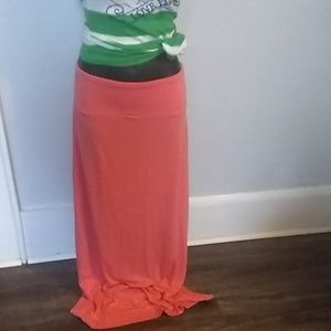 🌺 Mossimo Light Coral Maxi Skirt